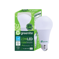 LED 22W bulb replaces a 150W