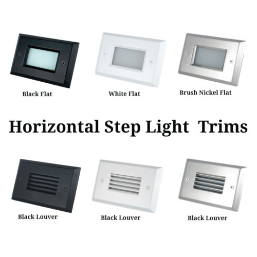 Horizontal Step Light Trim Plates