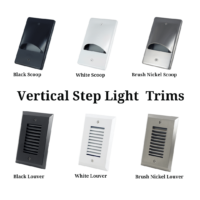 Vertical Trim Plates for step lights